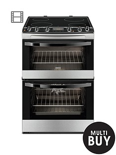 zanussi-zcv68300xa-60cm-ceramic-electric-double-oven-stainless-steel