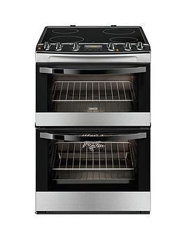 zanussi-zcv68300xa-60cm-ceramic-electric-double-oven-stainless-steel