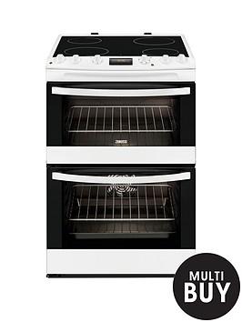 zanussi-zcv68300wa-60cm-ceramic-double-oven-electric-cooker-white