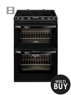 zanussi-zci68300ba-60cm-electric-induction-double-oven-black