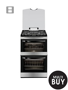 zanussi-zcg43200xa-55cm-gas-double-oven-stainless-steel