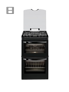 zanussi-zcg43200ba-55cm-double-oven-gas-cooker-black