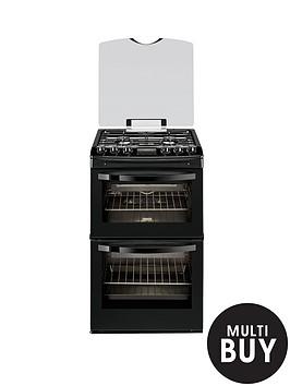 zanussi-zcg43200ba-55cm-double-oven-gas-cooker-black