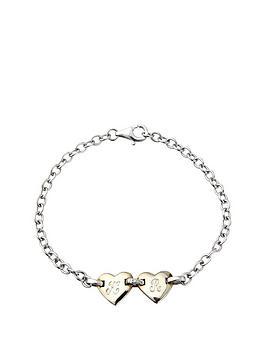 keepsafe-personalised-sterling-silver-double-heart-diamond-set-bracelet