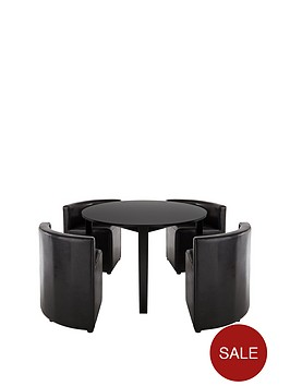 hideaway-106cm-dining-table-4-dining-chairsnbsp