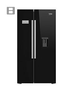 beko-asd241b-american-stylenbspfridge-freezer-with-non-plumbed-water-dispenser-black