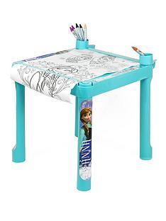 disney-frozen-colouring-table