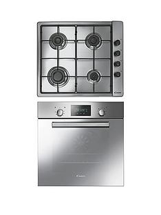 candy-acom609xm-built-in-single-fan-oven-with-clg64spx-60cm-gas-hob-pack-stainless-steel