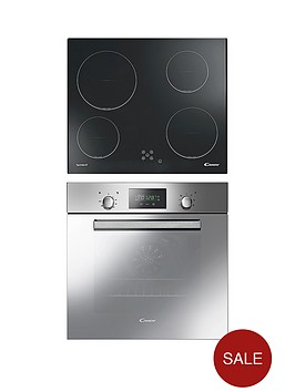 candy-acom609xm-single-fan-oven-with-60cm-ceramic-hob-pack-steel