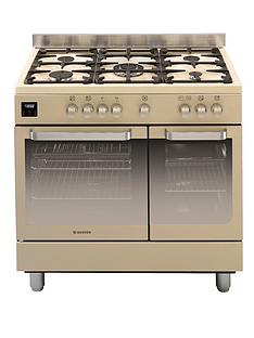 hoover-hgd9395iv-90cm-dual-fuel-range-cooker-twin-cavity-ivory