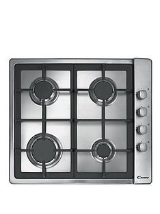 candy-clg64sgx-60cm-4-burner-gas-hob-with-cast-iron-pan-supports-and-side-control-knobs