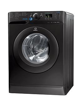Indesit Innex Xwa81252Xk 1200 Spin 8Kg Load Washing Machine  Black