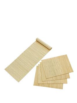bamboo-placemats-and-runner-set-light-natural