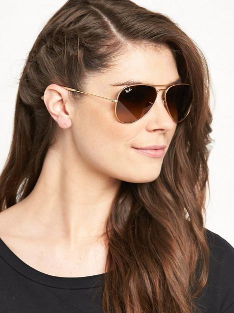 ray-ban-gradient-lensnbspaviator-sunglasses-rose-gold