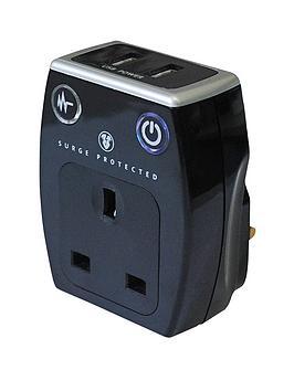 masterplug-surge-plug-through-adaptor-with-2x-usb-charge-outputs-black