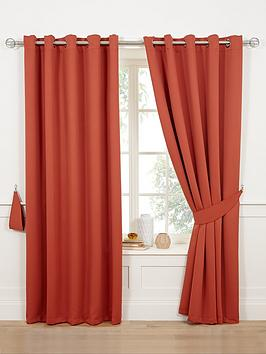 Very Woven Blackout Eyelet Curtains Picture