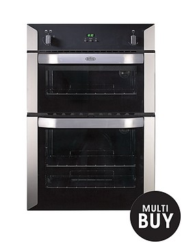 belling-bi90g-60cm-built-in-double-gas-oven-stainless-steel