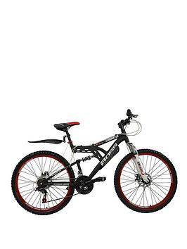 Boss Cycles Dominator 26 Inch Frame Dual Suspension Double Disc Brake Mens Mountain Bike