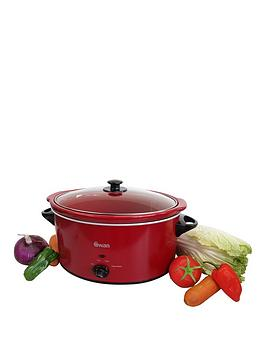 swan-55-litre-slow-cooker-red