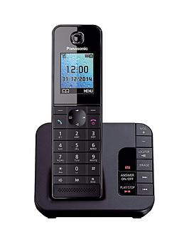 Panasonic KXTGH220EB Cordless Telephone with Answering Machine and Nuisance Call Block  Single