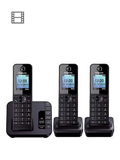 panasonic-kx-tgh223ebnbspcordless-telephone-with-answering-machine-and-nuisance-call-block-trio