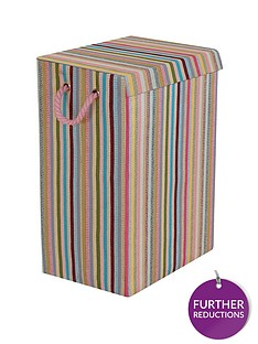 minky-coloured-stripe-laundry-hamper-multi