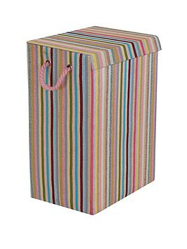 Minky Minky Coloured Stripe Laundry Hamper - Multi Picture