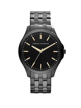 Armani Exchange Armani Exchange Dial Black Ip Stainless Steel Bracelet  ... Picture