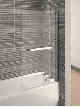 aqualux-aqua-4-square-bath-screen-with-towel-rail-1375-x-75-cm