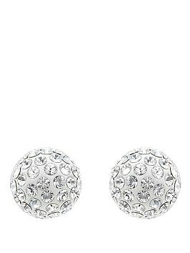 lola-and-grace-rhodium-plated-sparkle-earrings-with-swarovski-elements
