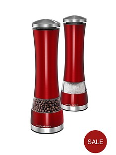 morphy-richards-electronic-salt-and-pepper-mill-set-red