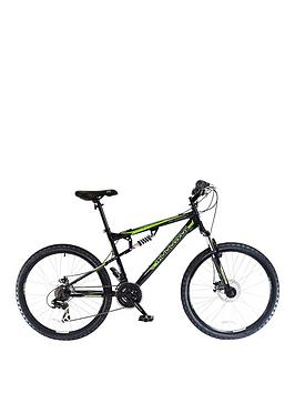 Muddyfox Livewire 26 inch Dual Suspension Double Disc Brake Mens Mountain Bike