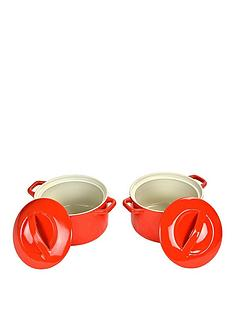 swan-round-casseroles-set-of-2-red