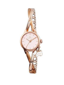 Radley Bayer Twisted Vintage Half Bangle Watch with Rose Gold Plated Case