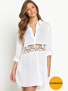 v-by-very-crochet-panel-beach-shirt