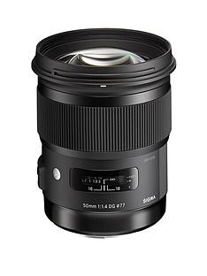 sigma-50-mm-f14-dg-a-hsm-lens-nikon-fit-black