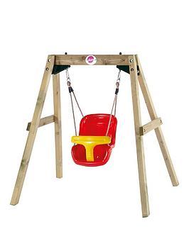 Plum Plum Wood Swing Set