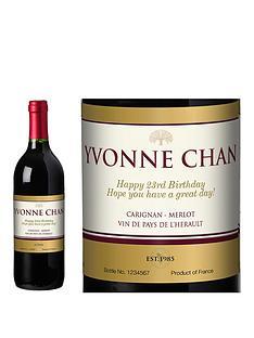personalised-red-wine