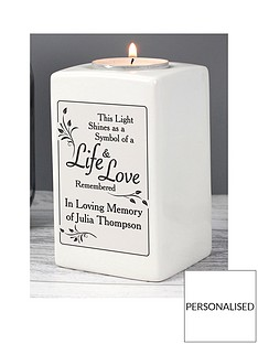 personalised-loving-memory-ceramic-tealight-holder