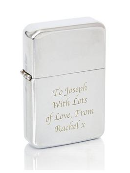 Very  Personalised Silver Windproof Lighter