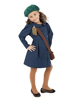 Very Ww2 Evacuee Girl - Childs Costume Picture