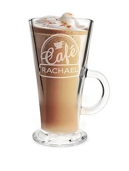 Very Personalised Bistro Latte Glass Picture