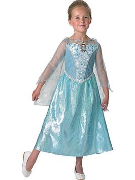 disney-frozen-musical-and-light-up-childs-elsa-costumenbspwith-free-book
