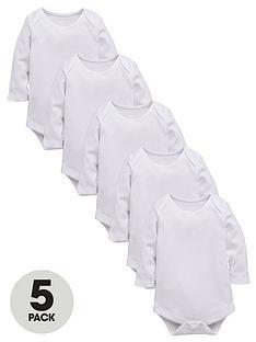 ladybird-baby-unisex-long-sleeved-bodysuits-5-pack