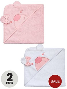 ladybird-baby-girls-applique-hooded-towels-2-pack
