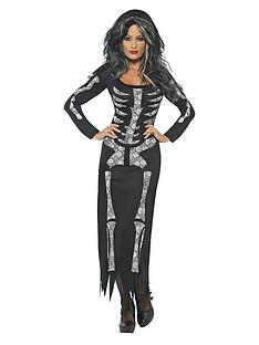 halloween-skeleton-tube-dress-adult-costume
