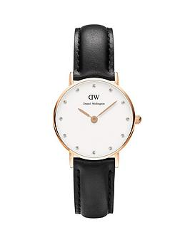 daniel-wellington-rose-gold-tone-26mm-case-leather-strap-ladies-watch