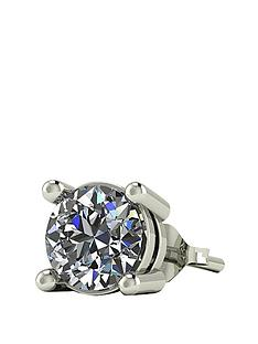 moissanite-9-carat-gold-50pt-solitaire-mens-earring