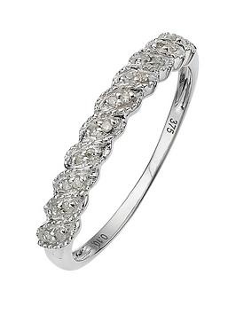 Love DIAMOND Love Diamond 9 Carat White Gold Diamond Half Eternity Ring Picture