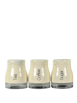 Sabichi Sabichi Cream 3 Piece Kitchen Canister Set Picture